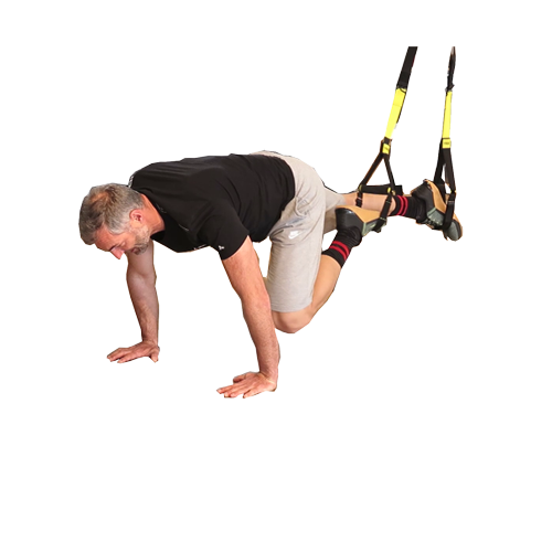 Mountain climber mit TRX