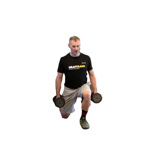 Moving lunges Kurzhantel