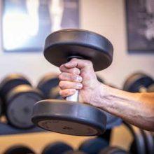 Muskelaufbau im Kraftraum